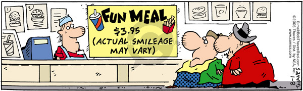 Comic Strip Bob Thaves Tom Thaves  Frank and Ernest 2005-08-01 smile