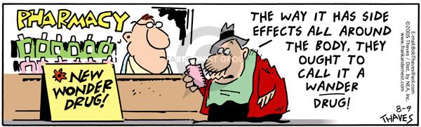 Comic Strip Bob Thaves Tom Thaves  Frank and Ernest 2005-08-09 prescription