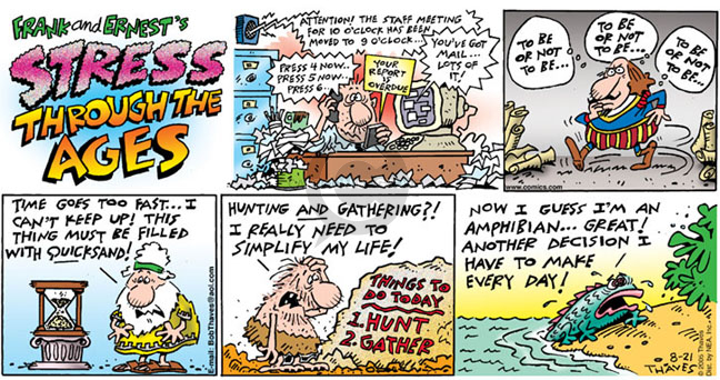 Comic Strip Bob Thaves Tom Thaves  Frank and Ernest 2005-08-21 email