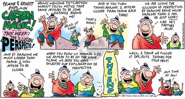 Comic Strip Bob Thaves Tom Thaves  Frank and Ernest 2006-01-29 guy