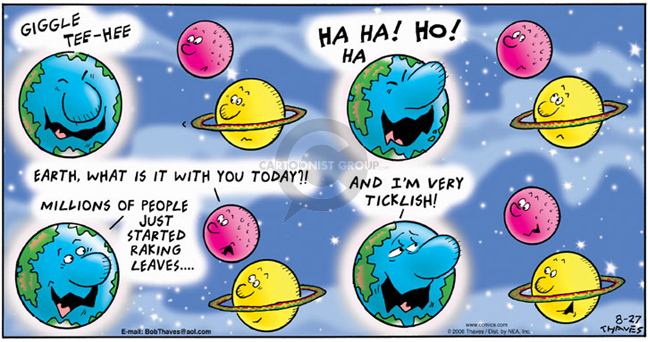 Comic Strip Bob Thaves Tom Thaves  Frank and Ernest 2006-08-27 solar system