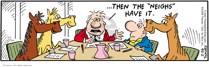Comic Strip Bob Thaves Tom Thaves  Frank and Ernest 2008-02-26 meeting