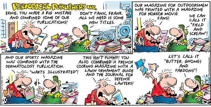 Comic Strip Bob Thaves Tom Thaves  Frank and Ernest 2008-10-05 scream