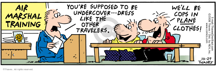 Comic Strip Bob Thaves Tom Thaves  Frank and Ernest 2008-10-29 air traveler