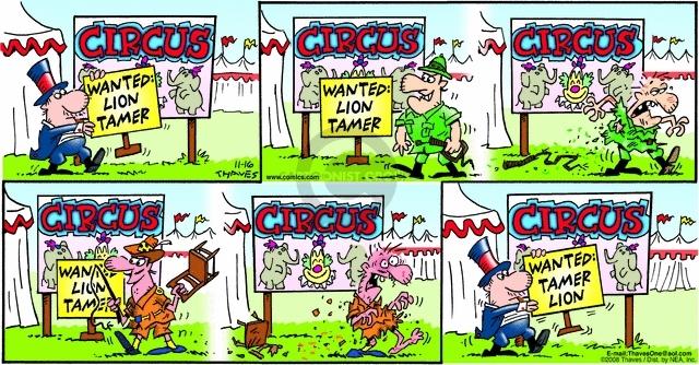 Cartoonist Bob Thaves Tom Thaves  Frank and Ernest 2008-11-16 adjustment