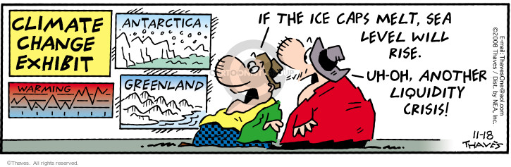Comic Strip Bob Thaves Tom Thaves  Frank and Ernest 2008-11-18 sea ice