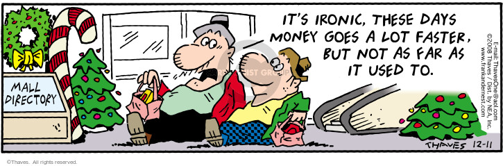 Comic Strip Bob Thaves Tom Thaves  Frank and Ernest 2008-12-11 personal day