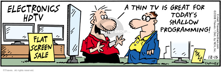 Comic Strip Bob Thaves Tom Thaves  Frank and Ernest 2008-12-15 sale