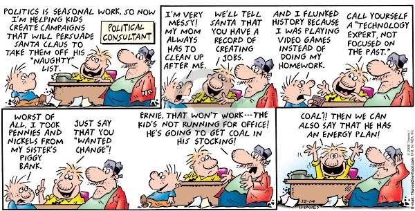 Comic Strip Bob Thaves Tom Thaves  Frank and Ernest 2008-12-14 politics