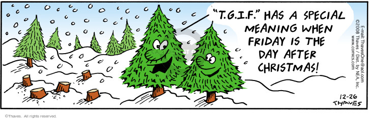 Comic Strip Bob Thaves Tom Thaves  Frank and Ernest 2008-12-26 Christmas tree