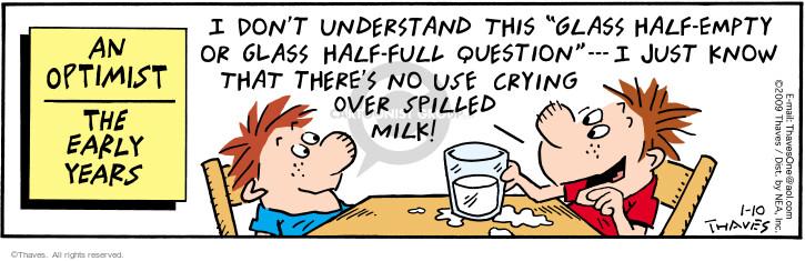 Comic Strip Bob Thaves Tom Thaves  Frank and Ernest 2009-01-10 optimism