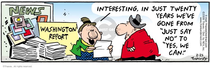 Comic Strip Bob Thaves Tom Thaves  Frank and Ernest 2009-02-25 twenty
