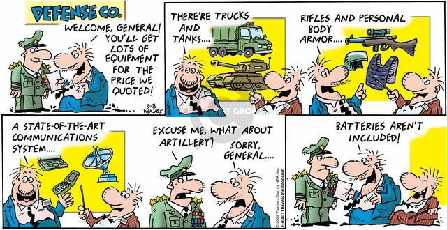 Comic Strip Bob Thaves Tom Thaves  Frank and Ernest 2009-03-08 tank