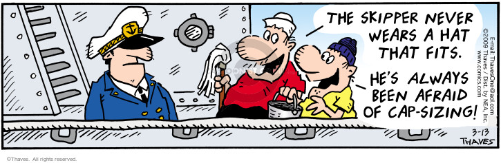Comic Strip Bob Thaves Tom Thaves  Frank and Ernest 2009-03-13 sailor