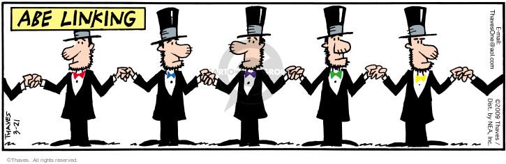 Cartoonist Bob Thaves Tom Thaves  Frank and Ernest 2009-03-21 president