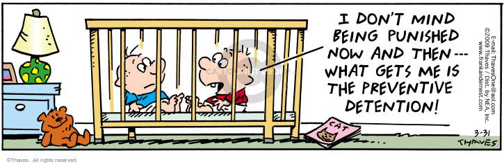 Comic Strip Bob Thaves Tom Thaves  Frank and Ernest 2009-03-31 discipline