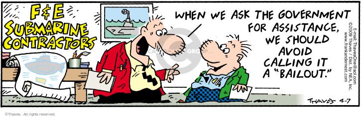 Cartoonist Bob Thaves Tom Thaves  Frank and Ernest 2009-04-07 submarine