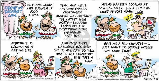 Comic Strip Bob Thaves Tom Thaves  Frank and Ernest 2009-04-12 customer