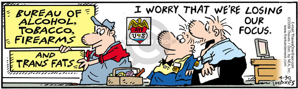 Comic Strip Bob Thaves Tom Thaves  Frank and Ernest 2009-04-30 worry