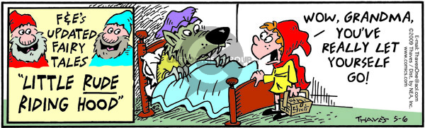 Comic Strip Bob Thaves Tom Thaves  Frank and Ernest 2009-05-06 red