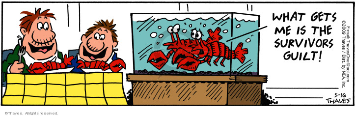 Comic Strip Bob Thaves Tom Thaves  Frank and Ernest 2009-05-16 fish