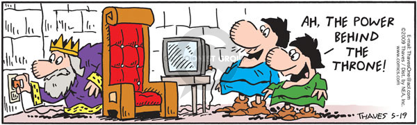 Comic Strip Bob Thaves Tom Thaves  Frank and Ernest 2009-05-19 electricity
