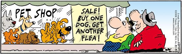 Cartoonist Bob Thaves Tom Thaves  Frank and Ernest 2009-06-12 offer