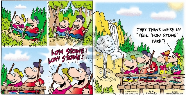 Comic Strip Bob Thaves Tom Thaves  Frank and Ernest 2009-06-21 hike