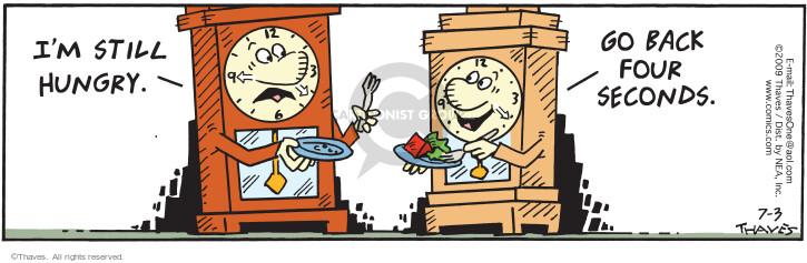 Comic Strip Bob Thaves Tom Thaves  Frank and Ernest 2009-07-03 hunger