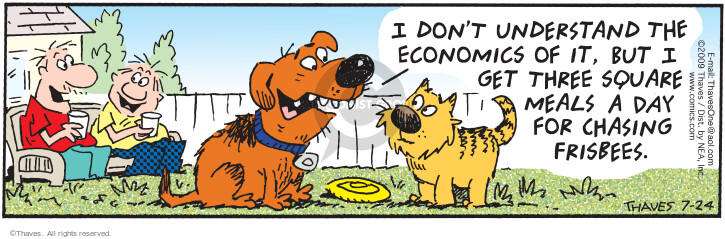 Comic Strip Bob Thaves Tom Thaves  Frank and Ernest 2009-07-24 exchange