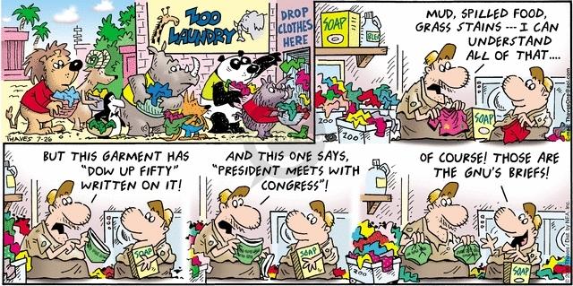 Cartoonist Bob Thaves Tom Thaves  Frank and Ernest 2009-07-26 president