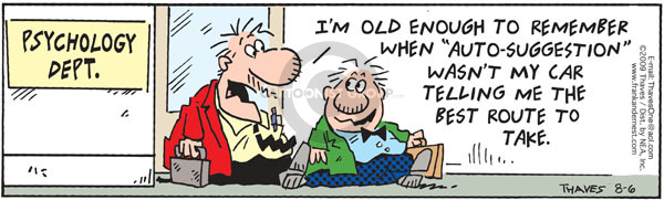 Comic Strip Bob Thaves Tom Thaves  Frank and Ernest 2009-08-06 GPS