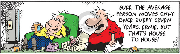 Comic Strip Bob Thaves Tom Thaves  Frank and Ernest 2009-08-07 lazy