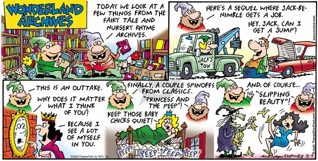 Comic Strip Bob Thaves Tom Thaves  Frank and Ernest 2009-08-09 auto
