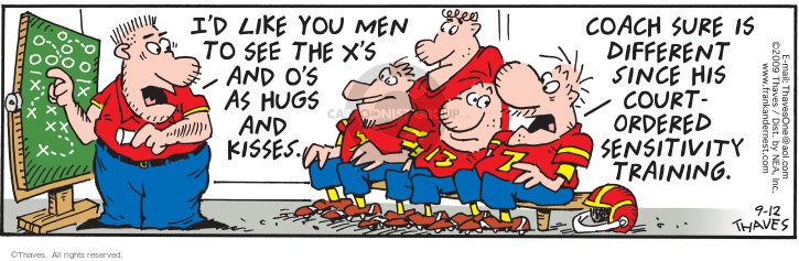 Comic Strip Bob Thaves Tom Thaves  Frank and Ernest 2009-09-12 football team