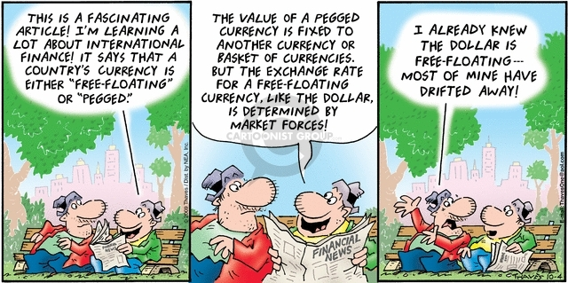 Comic Strip Bob Thaves Tom Thaves  Frank and Ernest 2009-10-04 currency