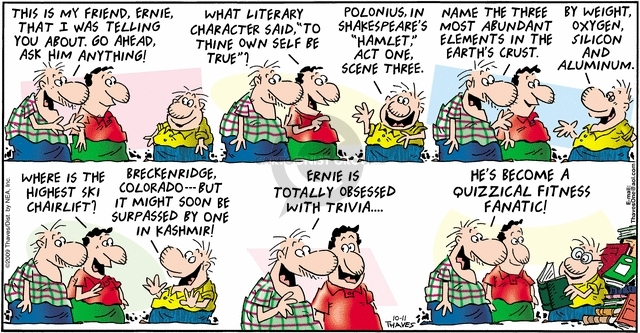 Comic Strip Bob Thaves Tom Thaves  Frank and Ernest 2009-10-11 geology