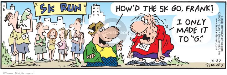 Comic Strip Bob Thaves Tom Thaves  Frank and Ernest 2009-10-27 runner