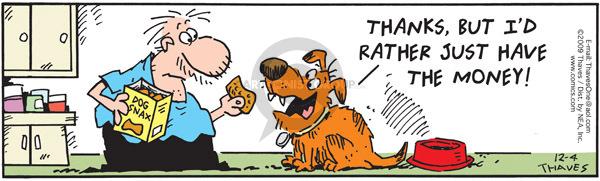 Comic Strip Bob Thaves Tom Thaves  Frank and Ernest 2009-12-04 reward