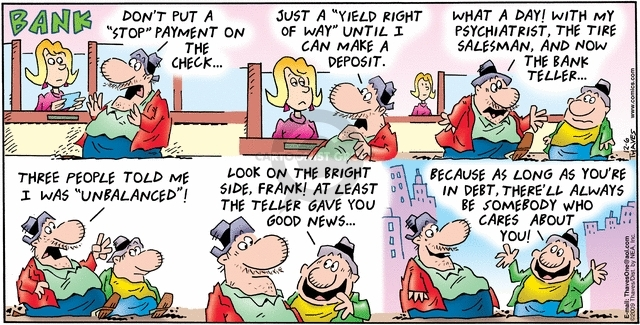 Comic Strip Bob Thaves Tom Thaves  Frank and Ernest 2009-12-06 depositor