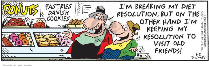 Comic Strip Bob Thaves Tom Thaves  Frank and Ernest 2010-01-02 friend