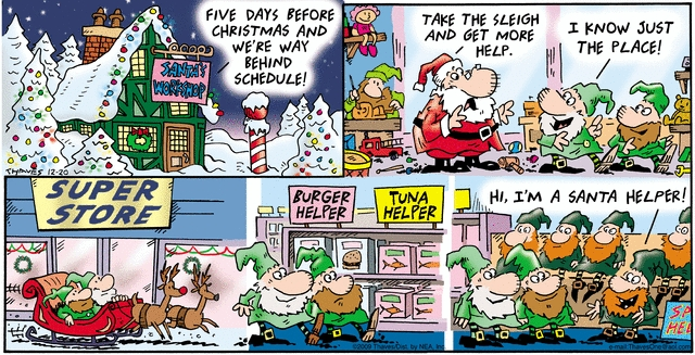 Comic Strip Bob Thaves Tom Thaves  Frank and Ernest 2009-12-20 labor
