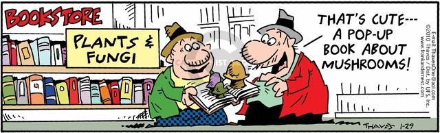 Cartoonist Bob Thaves Tom Thaves  Frank and Ernest 2010-01-29 pop-up book
