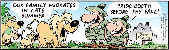 Comic Strip Bob Thaves Tom Thaves  Frank and Ernest 2010-02-01 lion