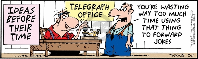 Comic Strip Bob Thaves Tom Thaves  Frank and Ernest 2010-02-11 office equipment