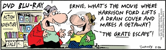 Comic Strip Bob Thaves Tom Thaves  Frank and Ernest 2010-02-26 adventure movie