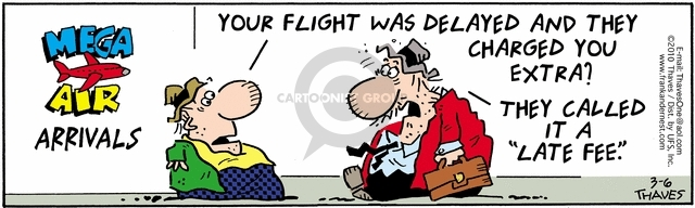 Comic Strip Bob Thaves Tom Thaves  Frank and Ernest 2010-03-06 air traveler