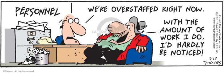 Comic Strip Bob Thaves Tom Thaves  Frank and Ernest 2010-03-17 job interview