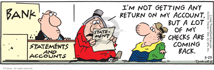Comic Strip Bob Thaves Tom Thaves  Frank and Ernest 2010-03-23 depositor
