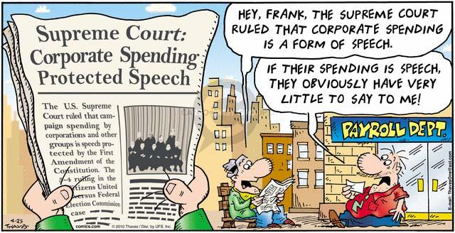 Comic Strip Bob Thaves Tom Thaves  Frank and Ernest 2010-04-25 Supreme Court